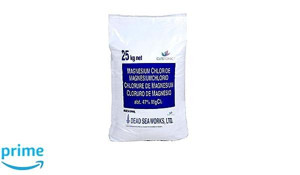 Cutetonic® Hojas de cloruro de magnesio ultra puro, origen del mar muerto (25KG): Amazon.es: Salud y cuidado personal