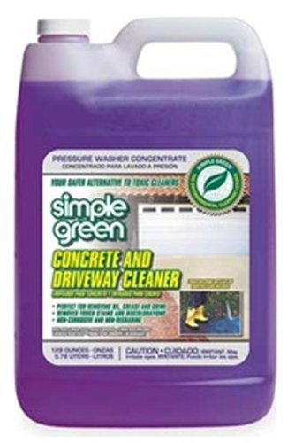 Simple Green 18202 Concrete and Driveway Cleaner, 1 Gallon Bottle (Best Way To Clean Concrete Garage Floor)