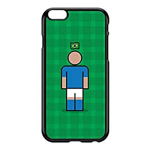 Brazil 2 Black Hard Plastic Case for iPhone 6 Plus by Blunt Football International + FREE Crystal Clear Screen Protector