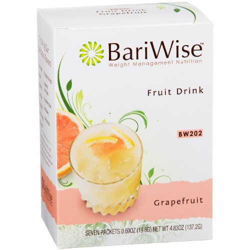 BariWise High Protein Powder Fruit Drink (15g Protein) / Low-Carb Diet Drinks - Grapefruit (7 Servings/Box) - Fat Free, Low Carb, Low Calorie, Sugar Free