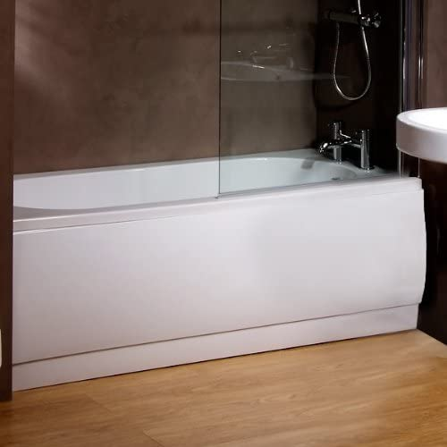 White Acrylic 1700 Front Bath Panel (Size Adjustable*) for Bathroom Soaking Tub (Dimensions - Height:520mm, Length: 1700mm * Can be cut down to fit smaller baths) by Better Bathrooms ®