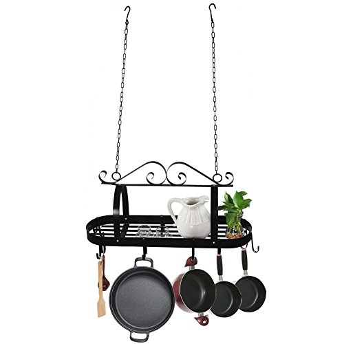 Hanging Iron Kitchen Pot Rack or Storage Pan Hanger Keep Your Cookware In - Macy's Locations California