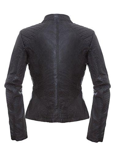 Rino & Pelle - Blouson - Style biker - Femme gris gris