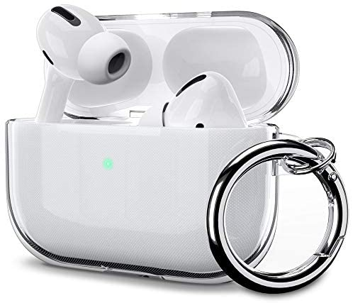 ULAK Airpods Pro Case Clear, Designed Protective AirPod Pro Cover Soft TPU Transparent Shockproof Case Accessories with Keychain for Airpods Pro 2019 [Front Led Visible]- Crystal Clear