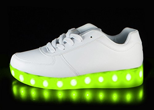 2d3e30b9a4c Light Up Shoes Hoverkicks Big Kids Nova (White) with Remote Control for Led  Sneakers