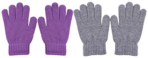 WDSKY Kids Gloves Winter Magic Wool Knit Stretchy