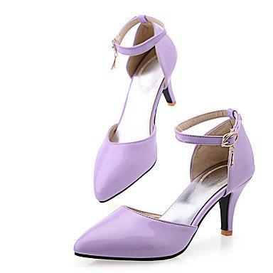 Le donne sexy elegante sandali donna tacchi Primavera Estate Autunno altri PU Office & Carriera Party & abito da sera Stiletto Heel fibbia blu porpora rosso , rosso , noi4-4.5 / EU34 / uk2-2.5 / CN33