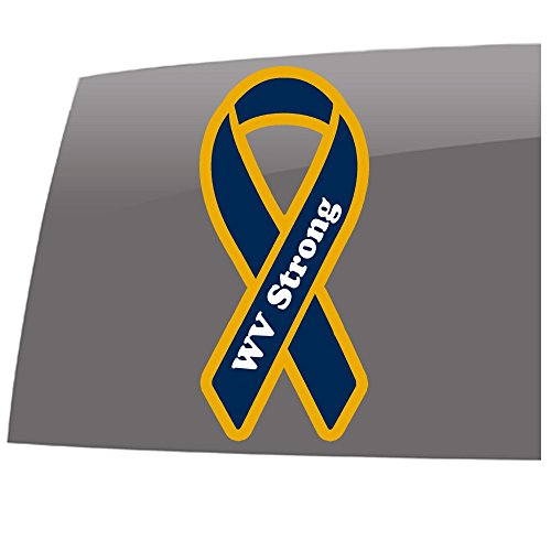 Window Swag WV Strong Ribbon - Color - Decal - World Events - Support - Vinyl Sticker