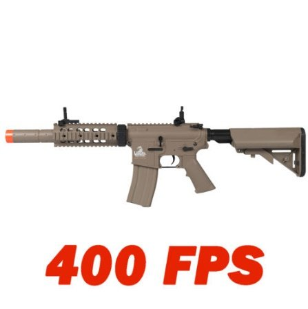 LT-15T M4 SD Metal Gear Airsoft Rifle Gun AEG Full/Semi Automatic Tan 400 FPS ()