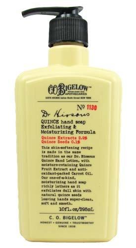 Bigelow Hand Cream - C.O. Bigelow Dr. Hiosous Quince Hand Soap Exfoliating & Moisturizing Formula No 1130 10 Oz