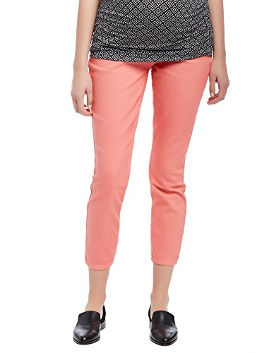 Maternity Pant Crop Twill (Motherhood Secret Fit Belly Twill Skinny Leg Maternity Crop Pants)