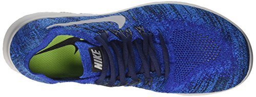 Nike de 38 2017 Photo Bleu Loup Profond Pur Royal Chaussures Gris Bleu Platine Homme Bleu RN Running Free Compétition Flyknit EU rzpwXrq