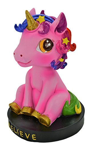 Pink Unicorn Resin Bobble Head Bobblehead Figure Car Accessories Dashboard Office Home Ultra Detail Doll . Rare & Limited - Head Bobble Adult