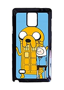 Engood Design Adventure Time TARDIS Case Durable Unique Design Hard Back Case Cover For Samsung Galaxy Note 4 New