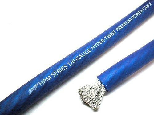 Stinger 0 Gauge Matte Blue OFC HPM Series Power Wire 25' Cut