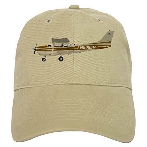 - Cessna 172 Skyhawk Brown Cap Baseball Cap with Adjustable Closure Unique Printed Baseball Hat