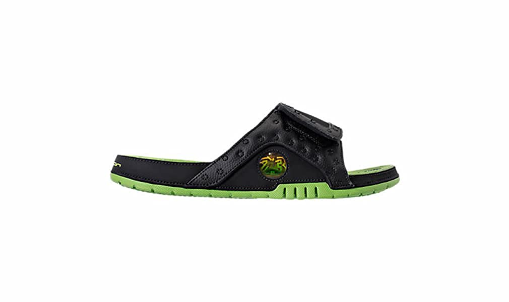 1cf07ffa0f7 Nike Jordan Men Jordan Hydro XIII Retro Slide Black Altitude Green-Altitude  Green Size 10. 0 US: Buy Online at Low Prices in India - Amazon.in