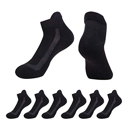 - Athletic Socks Women Low Cut Performance Cushioned with Tab for Running 6 Pairs