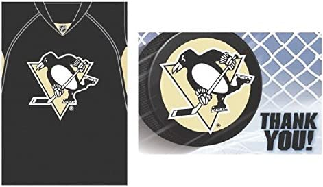 """""""Pittsburgh Penguins Collection"""" Party Invitations & Thank You Card Set"""