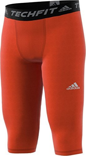 Tights Jersey Adidas (Adidas Techfit Base Mens Three L Orange)