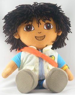 """Nickelodeon Go Diego Doll Rescue Backpack 14"""" Plush Doll ..."""