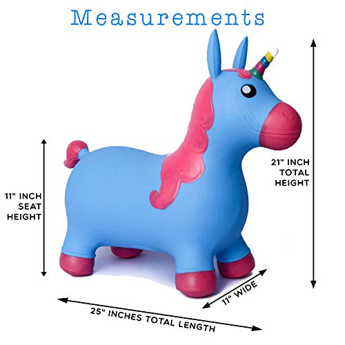 Kiddie Play Hopper Ball Unicorn Inflatable Hoppity Hop Bouncy Horse (Pump Included) by Kiddie Play (Image #2)