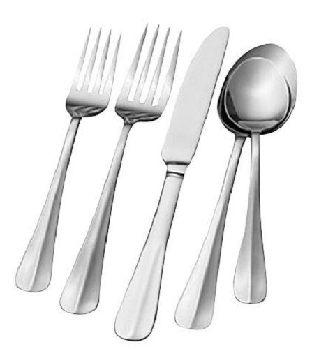 (Pfaltzgraff Everyday Simplicity 53-Piece Stainless Steel Flatware Set, Service for 8)