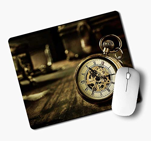 iKraft Rubber Mouse Pad – Vintage Antique Pocket Watch Printed Non-Slip Rubber Mouse mat