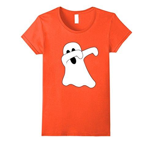 Womens Dabbing Ghost T-Shirt - Dab Dance Spooky Halloween Costume XL (Ghost Dance Costume)