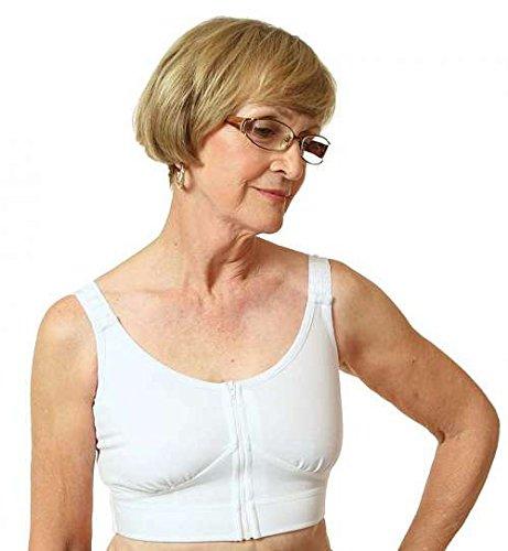 Wear ease compression bra style 790-white-XL+ by wear ease