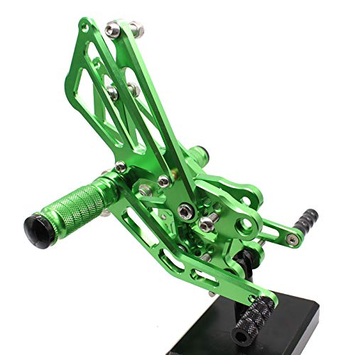 Krace Motorcycle Rearsets Foot Pegs Rear Set Footrests Brake Shift Pedals Fully Adjustable Foot Boards Fit For Kawasaki ZX14R / ABS ()