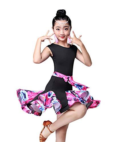 ORIDOOR Girl's Sleeveless Latin Rumba Samba Ballroom