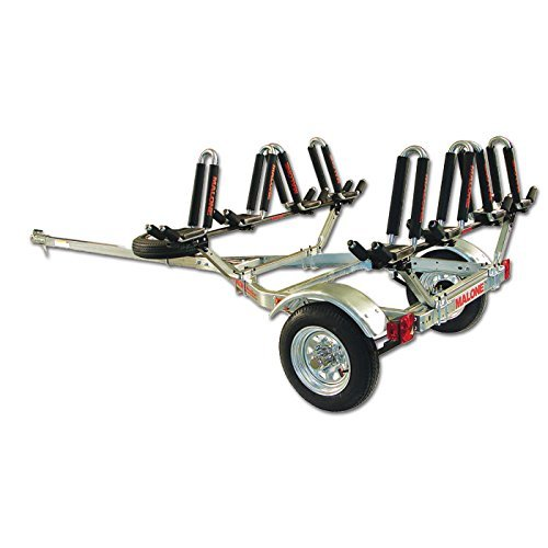 Malone Auto Racks MicroSport Trailer Kayak Transport Package with 4 Malone J-Pro2 Kayak Carriers (Best Kayak Trailer Designs)