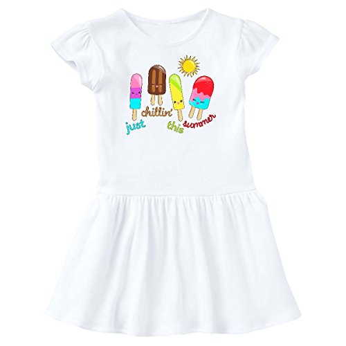 inktastic - Just Chillin This Summer Popsicles Toddler Dress 3T White 304ce ()