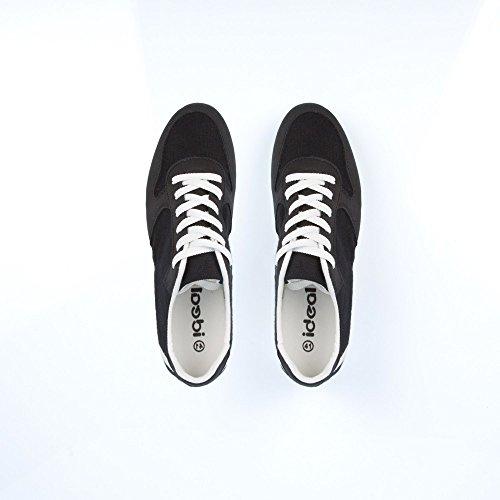 Ideal Shoes–Sneaker Männer Bi-Material Levi Schwarz - Schwarz