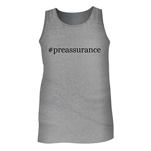 Tracy Gifts #preassurance - Men's Hashtag Adult Tank Top, Heather, Medium (Preassure Oven)