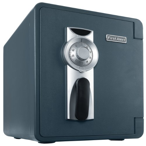 - First Alert 2087F Waterproof and Fire-Resistant Bolt-Down Combination Safe, 0.94 Cubic Feet