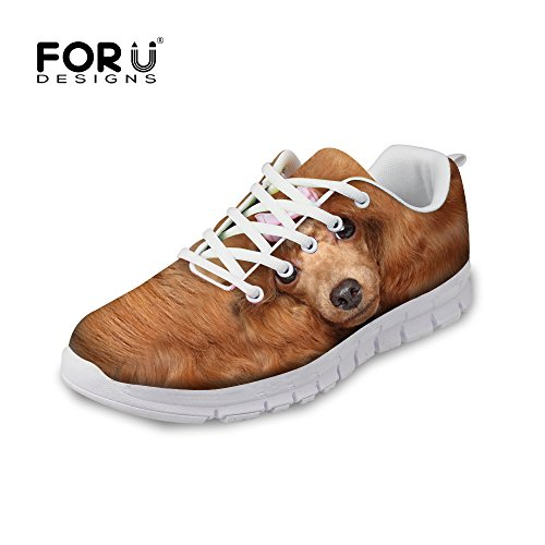 FOR U DESIGNS Fashion Cat Print Mens & Womens Breathable Mesh Running Shoes Sneaker Poodle A1 GjRA1neQ