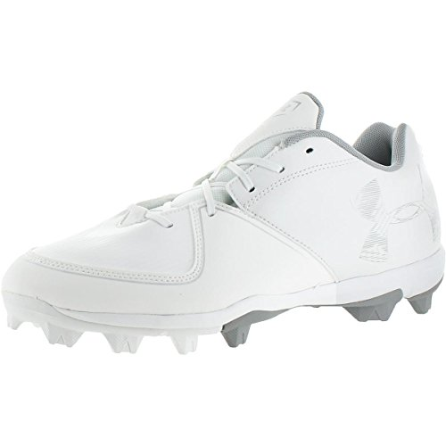 Under Armour Womens Glyde RM Softball Shoes Shimmer Cleats White 12 Medium ()