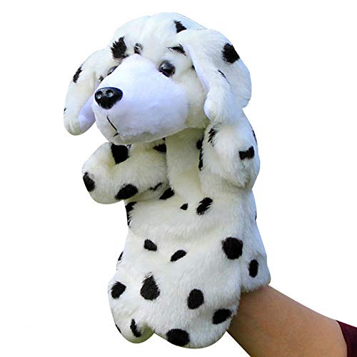 (Meiyiu Plush Dog Story Telling Props Animal Hand Puppets Parent Child Interactive Toy Dalmatian 25cm)