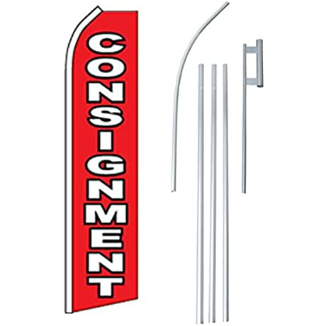 NEOPlex Consignment Complete Flag Kit Includes 12 Swooper Feather Bus