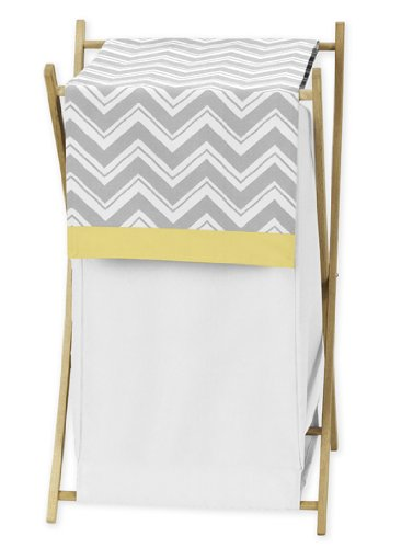 Cheap  Sweet Jojo Designs Baby/Kids Clothes Laundry Hamper for Yellow and Gray Chevron..
