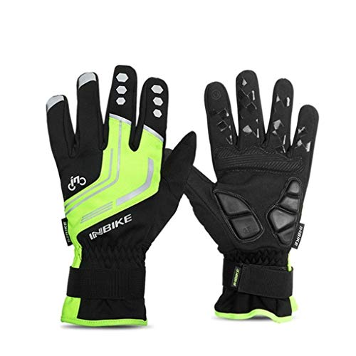 Motorcycle Professional Protective Gloves Windproof Mountain Bike Gloves for Adults Teens Men and Women Green X-Large