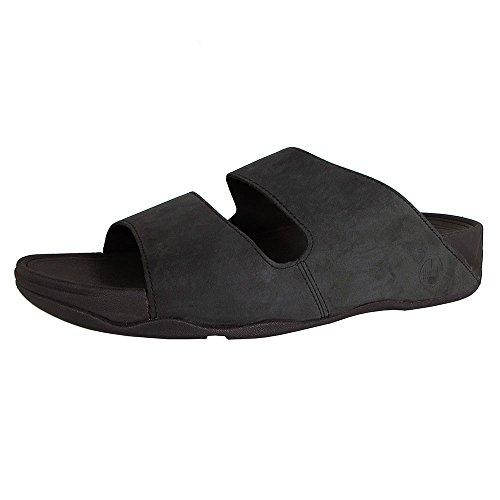 FitFlop Men's Gogh Slide Sport Sandal,Black,12 M US