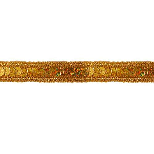 Holographic Gold Sequin Sewing Crafts Trim ~ Several Colors in Stock!! DSKZZ-2019 by JUSTYY