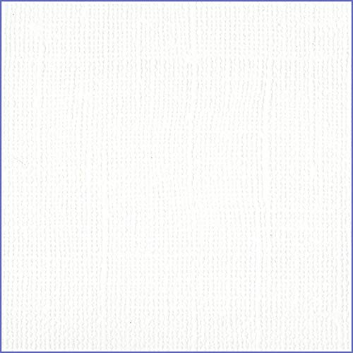 Bazzill White 12x12 Textured Cardstock | 80 lb White Scrapbook Paper | Premium Card Making and Paper Crafting Supplies | 25 Sheets per Pack