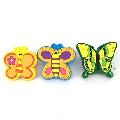 BIG-DEAL Handle knobs_12 Pieces_Children Room Cartoon Furniture Handle zinc Alloy & Soft Plastic Cute Children Favorite knob Cabinet Dresser Pulls - (Color:3 Models Mixed)