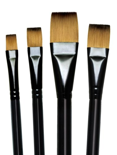 Majestic Royal and Langnickel Short Handle Paint Brush Set, Glaze Wash, 4-Piece