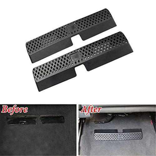 Ponis-Limos - BBQFuKa Fit For 2008-2016 AUDI A4 Car Seat AC Heater Floor Air Grille Vent Cover Outlet GW ABS Dust cover