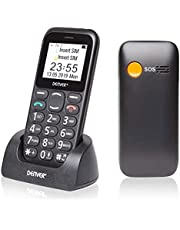 Denver BAS-18300m Big Button Mobile Phone For The Elderly - Unlocked Senior Large Button Mobile Phone, SOS Mobile Phone, Talking Numbers, Bluetooth, and Torch